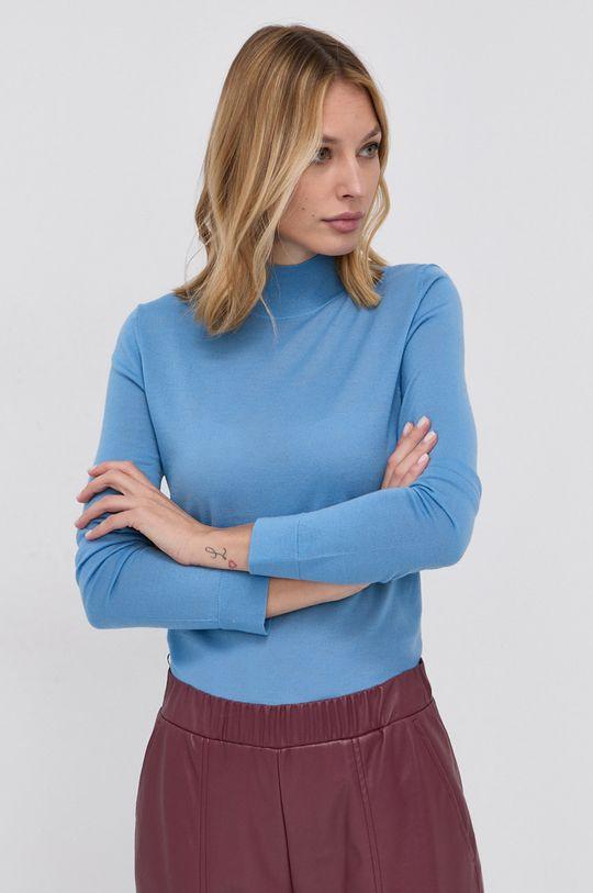 albastru Boss - Pulover de lana