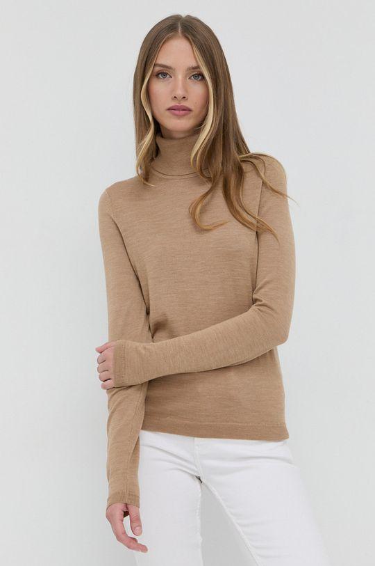 beżowy Boss - Sweter wełniany Damski