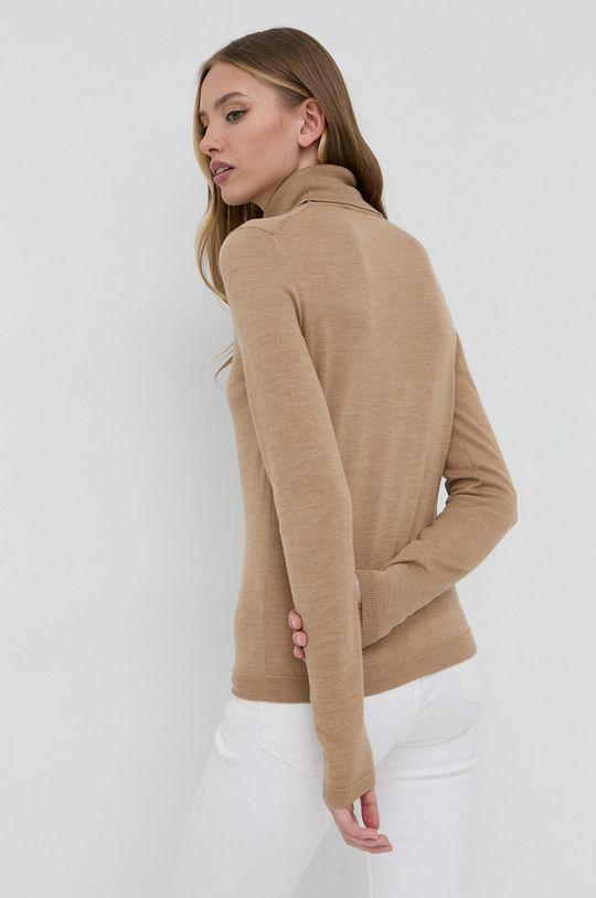 Boss - Sweter wełniany 100 % Wełna