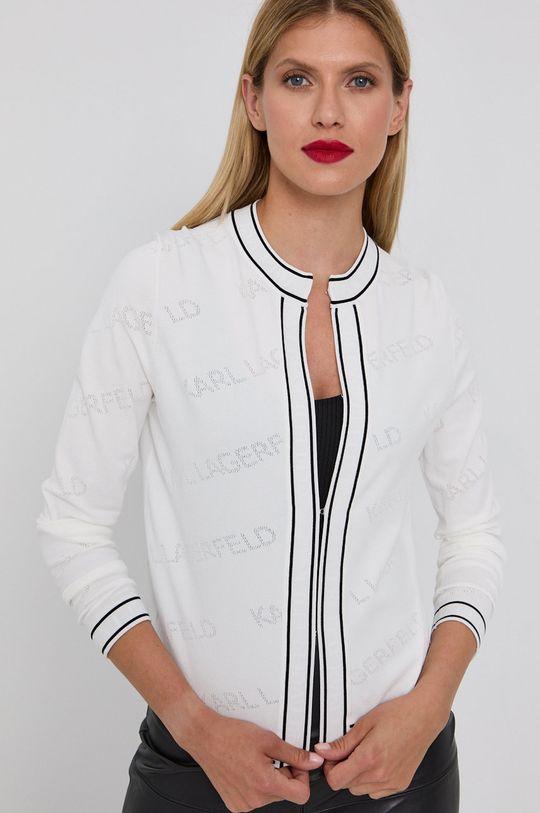 biały Karl Lagerfeld - Kardigan