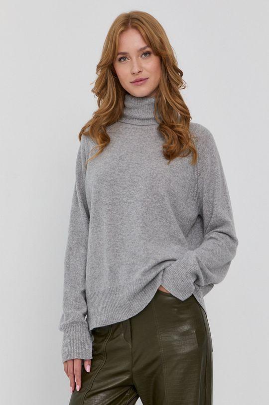 jasny szary Twinset - Sweter wełniany Damski