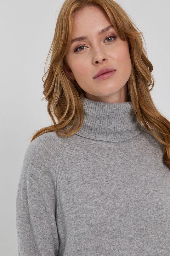 jasny szary Twinset - Sweter wełniany