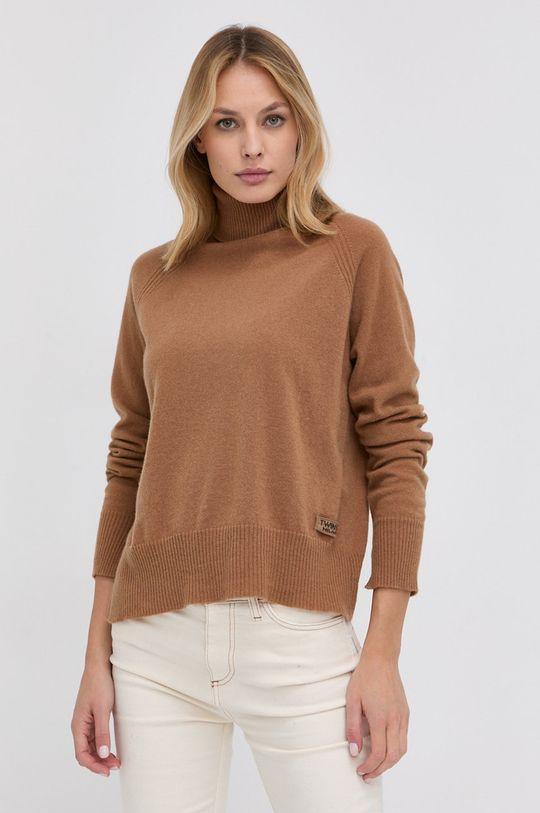 maro auriu Twinset - Pulover de lana De femei