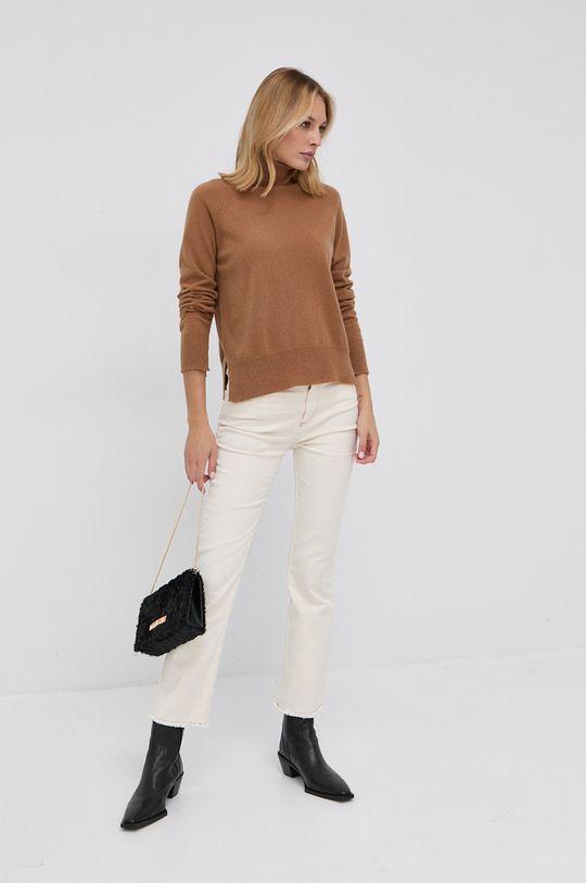 Twinset - Pulover de lana maro auriu