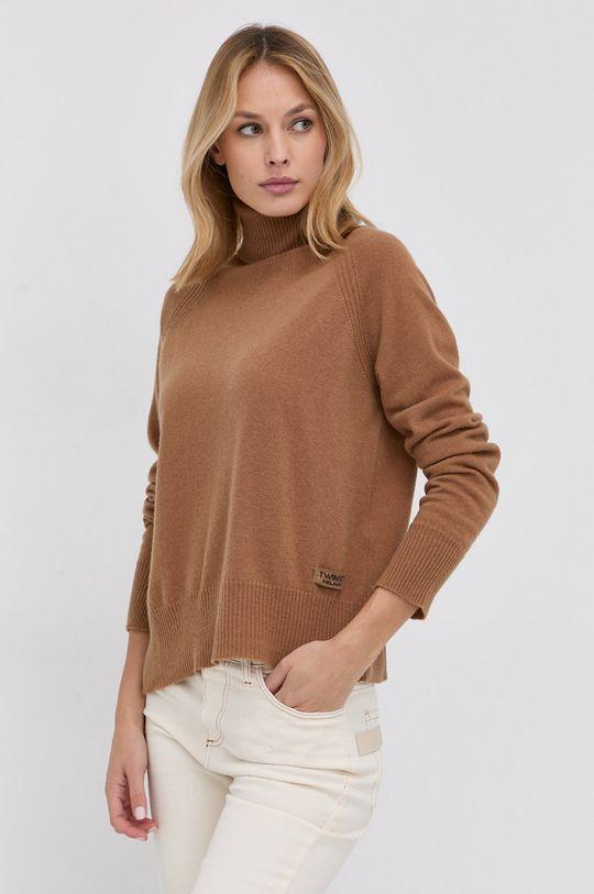 maro auriu Twinset - Pulover de lana