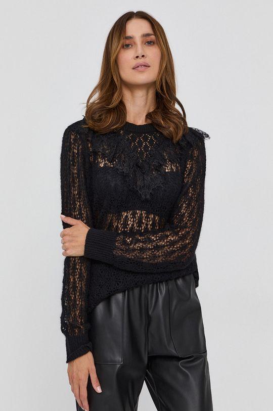 czarny Twinset - Sweter z domieszką wełny Damski