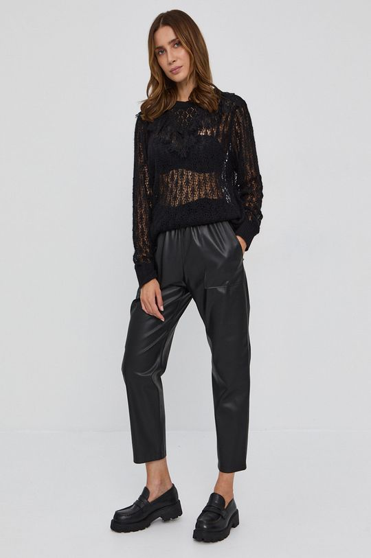 Twinset - Sweter z domieszką wełny czarny