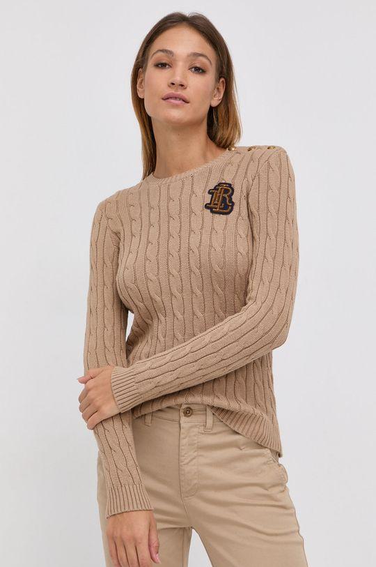 beżowy Lauren Ralph Lauren - Sweter bawełniany