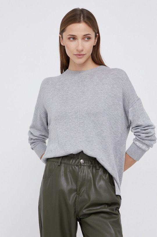 szary Pepe Jeans - Sweter z domieszką wełny Carol Damski