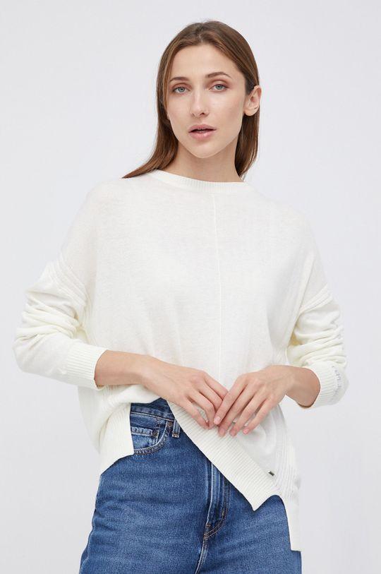 kremowy Pepe Jeans - Sweter z domieszką wełny Carol Damski