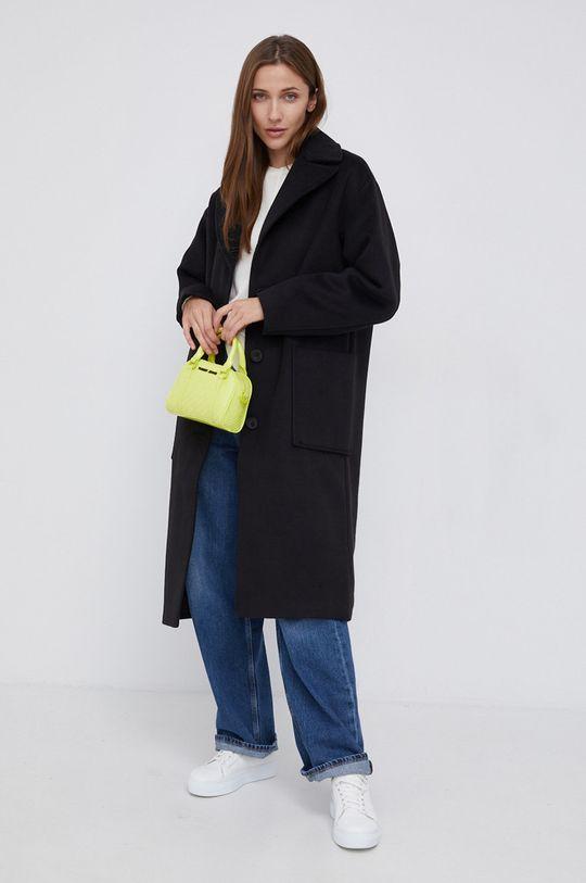 Pepe Jeans - Sweter z domieszką wełny Carol kremowy