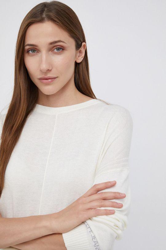 kremowy Pepe Jeans - Sweter z domieszką wełny Carol