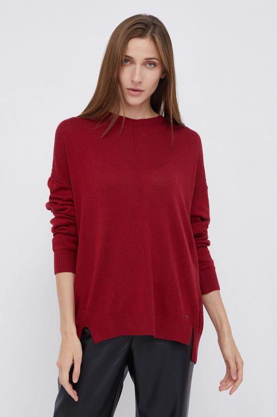 czerwony Pepe Jeans - Sweter z domieszką wełny Carol Damski