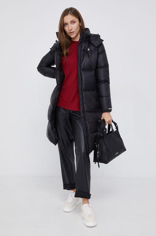 Pepe Jeans - Sweter z domieszką wełny Carol czerwony