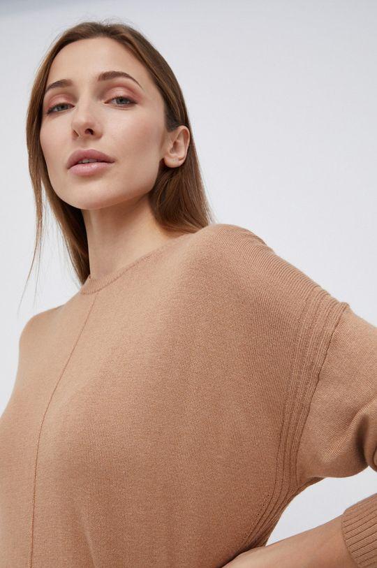 brązowy Pepe Jeans - Sweter z domieszką wełny Carol