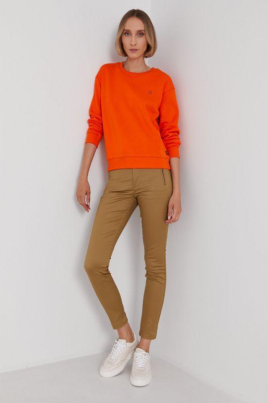 G-Star Raw - Bluza pomarańczowy