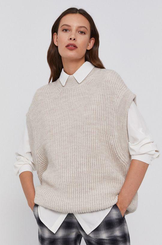béžová Drykorn - Vlnený sveter Tilani Dámsky