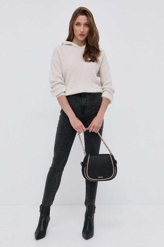 Morgan - Sweter z domieszką wełny MNINO kremowy