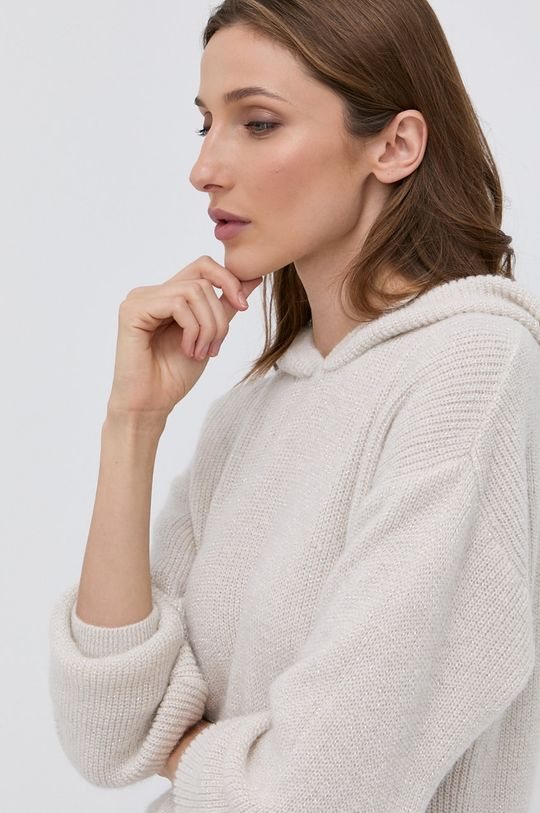 kremowy Morgan - Sweter z domieszką wełny MNINO
