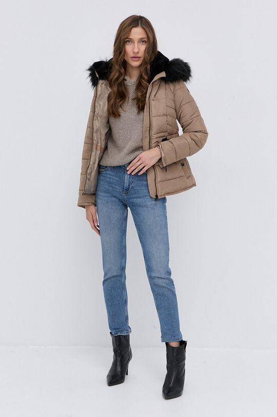 Morgan - Sweter z domieszką wełny MNINO beżowy