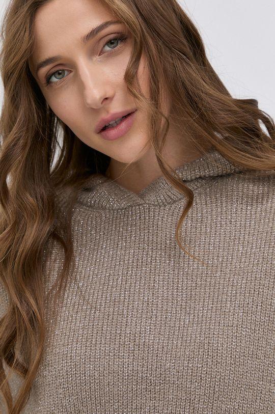 beżowy Morgan - Sweter z domieszką wełny MNINO