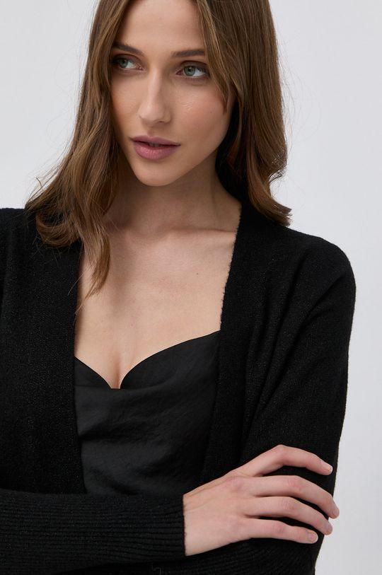 czarny Morgan - Kardigan z domieszką wełny