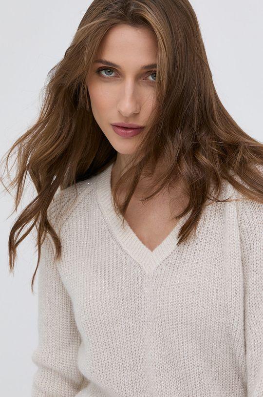 kremowy Morgan - Sweter z domieszką wełny Damski
