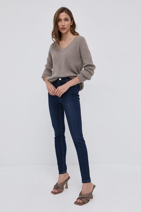 Morgan - Sweter z domieszką wełny szary