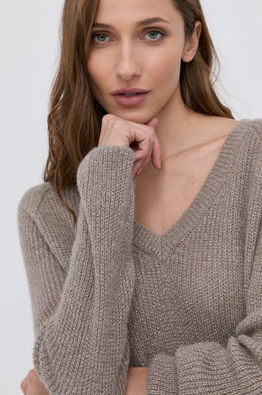 szary Morgan - Sweter z domieszką wełny