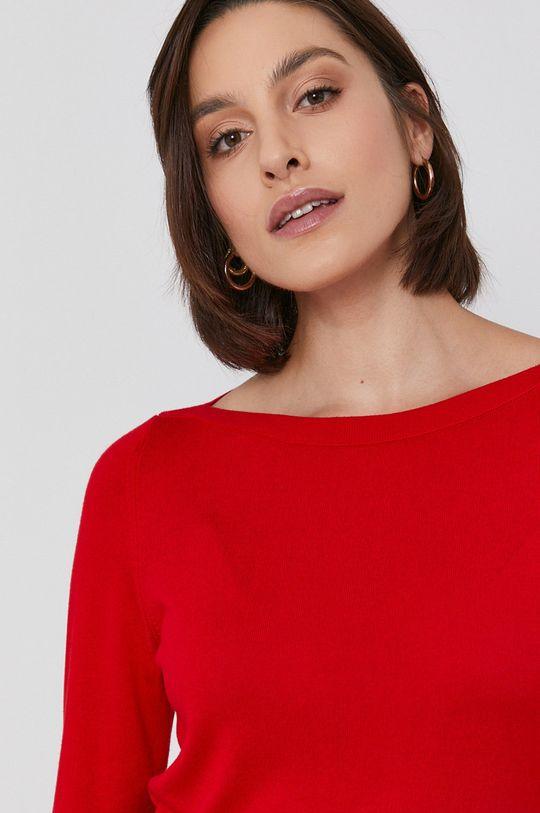 czerwony United Colors of Benetton - Sweter