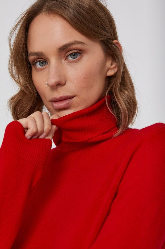rosu United Colors of Benetton - Pulover de lana