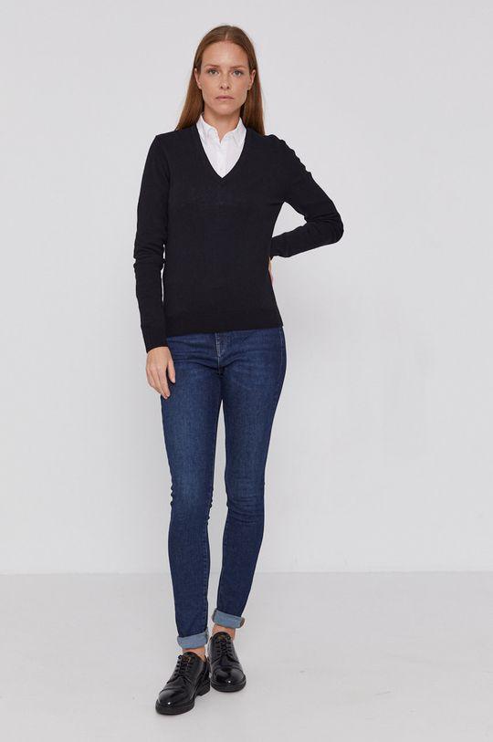 United Colors of Benetton - Pulover de lana negru