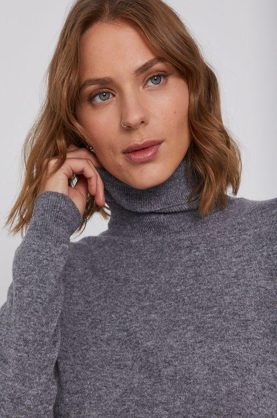 sivá United Colors of Benetton - Vlnený sveter