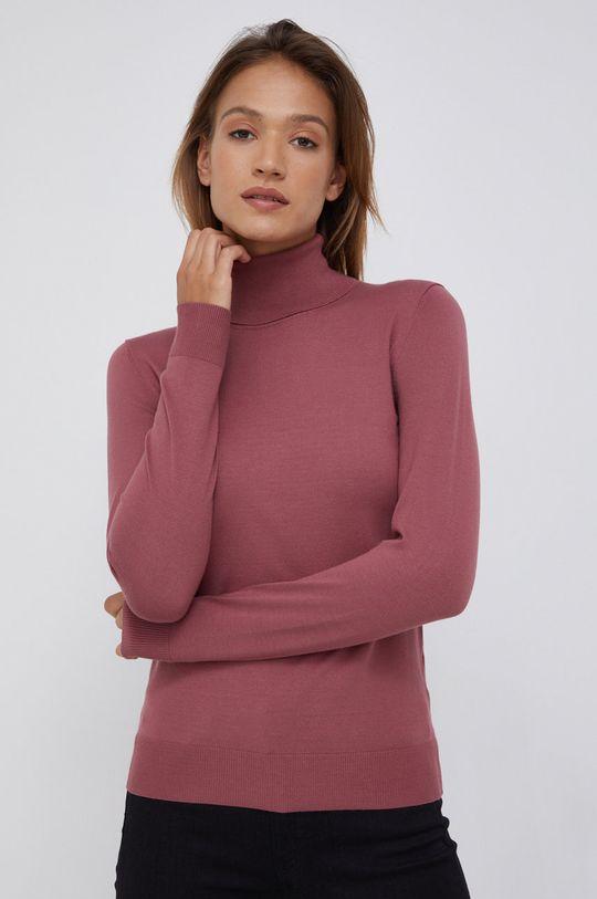 ostry różowy Sisley - Sweter Damski