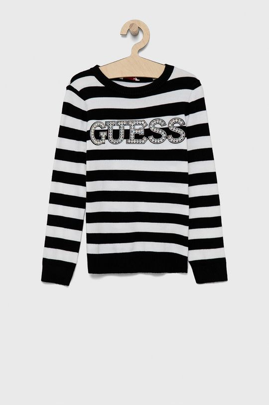 biały Guess - Sweter dziecięcy Dziewczęcy