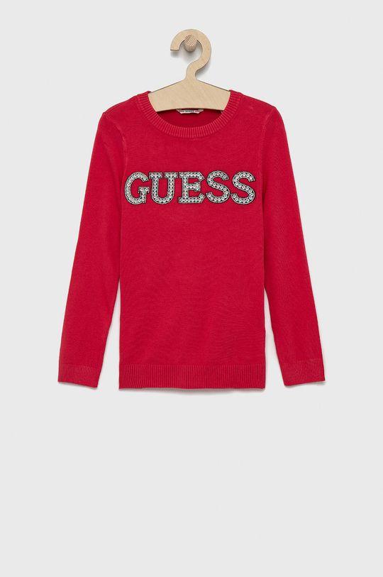 ostry różowy Guess - Sweter dziecięcy Dziewczęcy