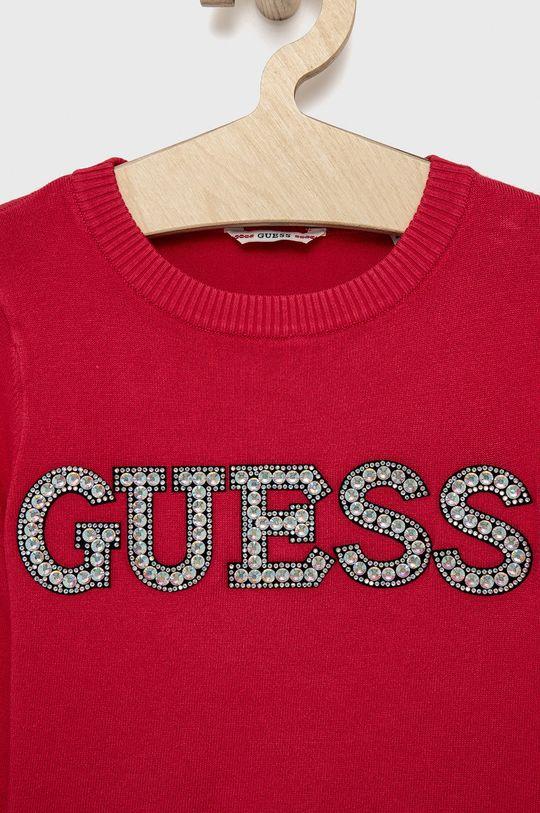 Guess - Sweter dziecięcy 17 % Poliamid, 2 % Spandex, 81 % Wiskoza