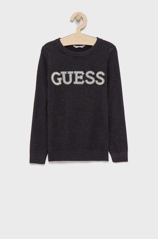 czarny Guess - Sweter dziecięcy Dziewczęcy