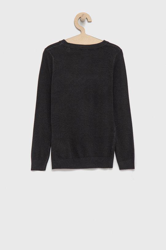 Guess - Sweter dziecięcy czarny