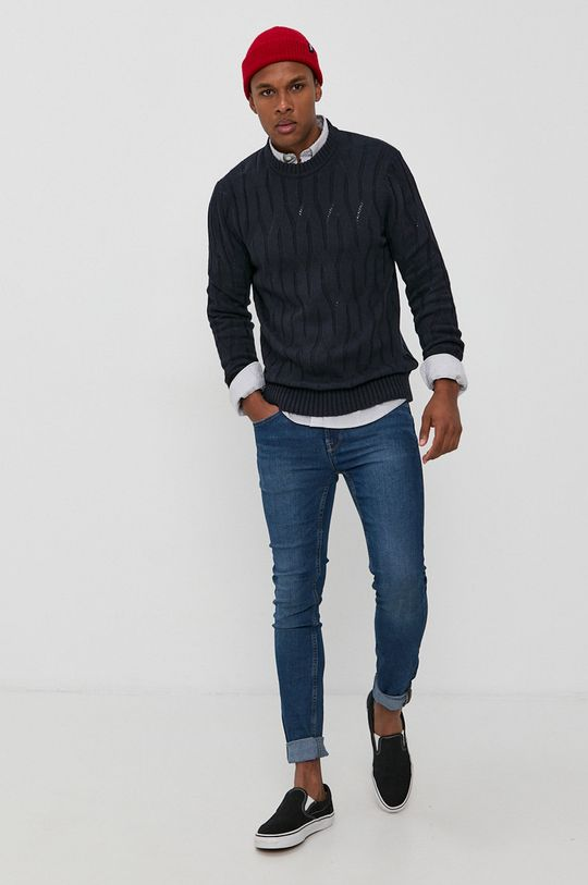 Only & Sons - Sweter granatowy
