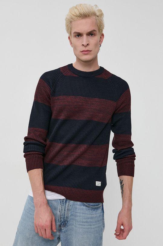 mahoniowy Jack & Jones - Sweter