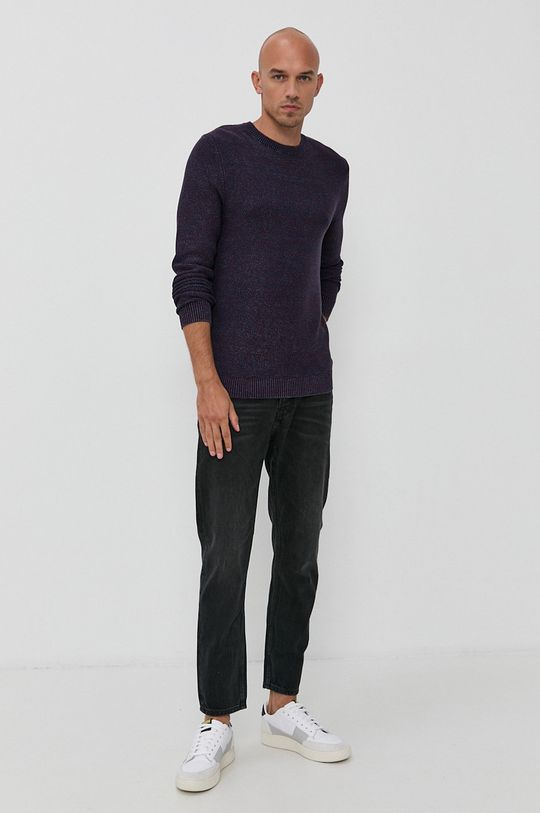Produkt by Jack & Jones - Sweter ciemny fioletowy