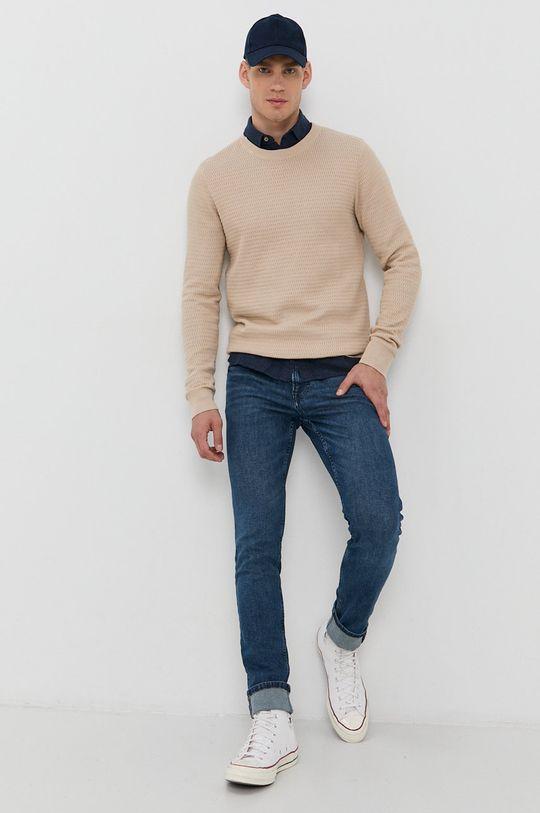 Produkt by Jack & Jones - Sweter kremowy