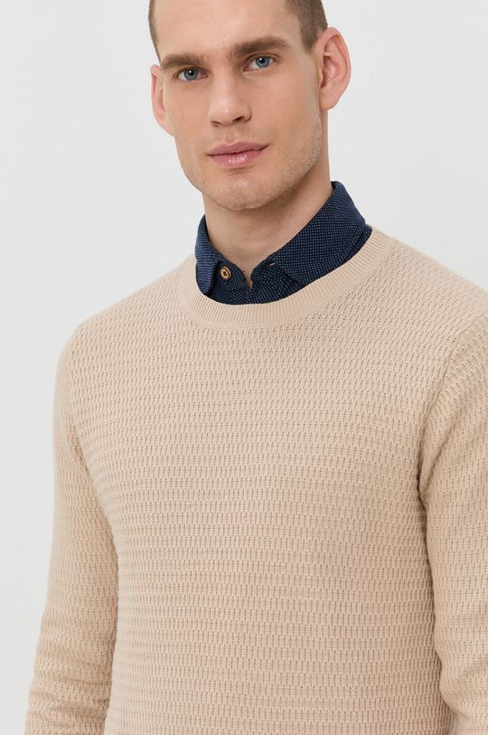 kremowy Produkt by Jack & Jones - Sweter