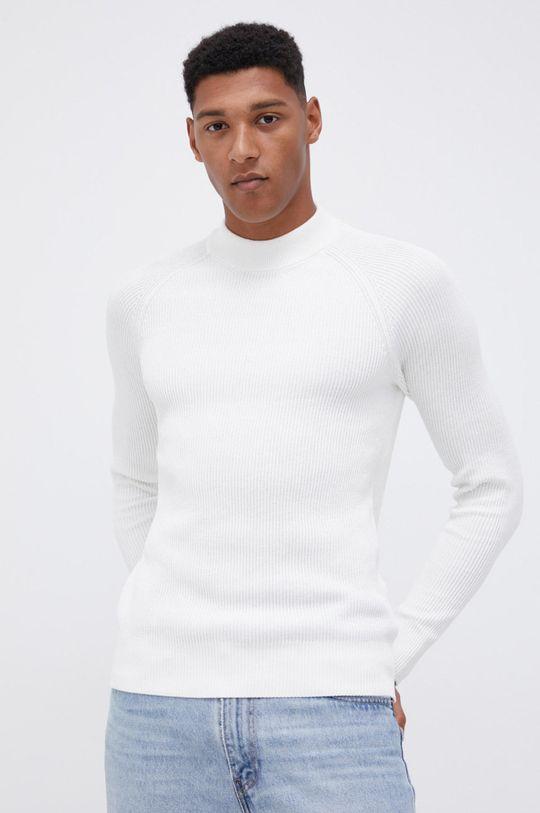 biały Premium by Jack&Jones - Sweter Męski