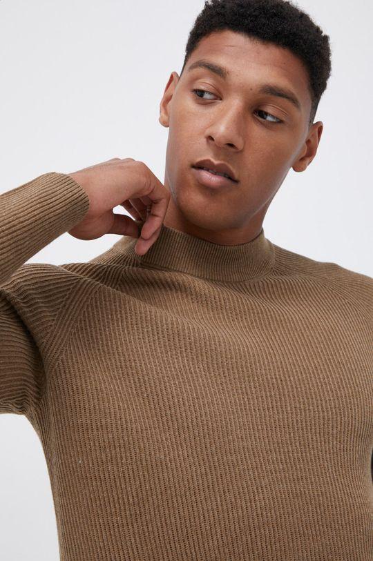 brudny brązowy Premium by Jack&Jones - Sweter
