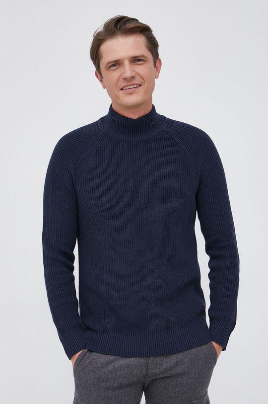 granatowy Selected - Sweter bawełniany Męski