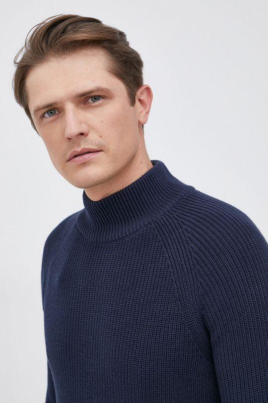granatowy Selected - Sweter bawełniany