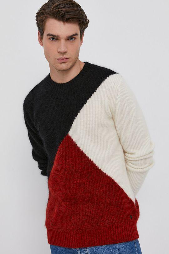 czerwony Karl Lagerfeld - Sweter wełniany Męski