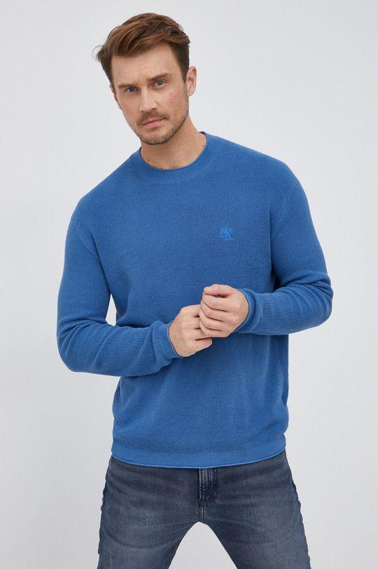 albastru Calvin Klein Jeans - Pulover De bărbați